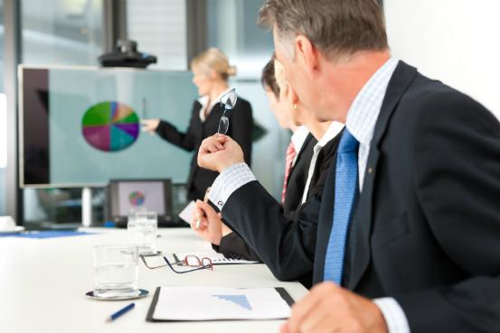 Chef d'entreprise en réunion